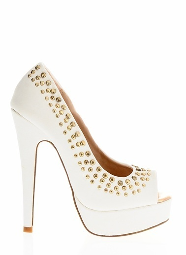 Casa Rossi Platform Topuklu Ayakkabı Beyaz